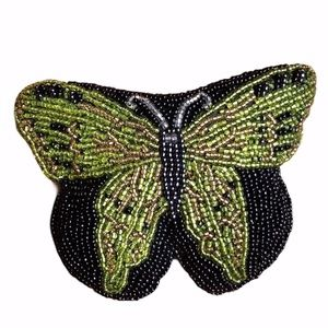 Vintage Neiman Marcus Beaded Butterfly Coin Purse